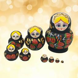 10 Pcs Lovely Nesting Dolls Big Belly Colorful Collection To