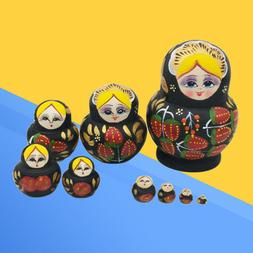 10 Pcs Lovely Nesting Dolls Colorful Russian Dolls for Adult