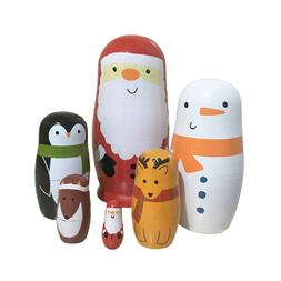6pcs Nesting Dolls Adorable Decration Stacking Doll for Adul