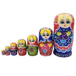 7 Pcs Mini Nesting Dolls Adorable Russian Stacking Doll for