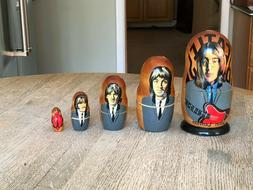 Beatles Russian Nesting Dolls Set of 2 Different New