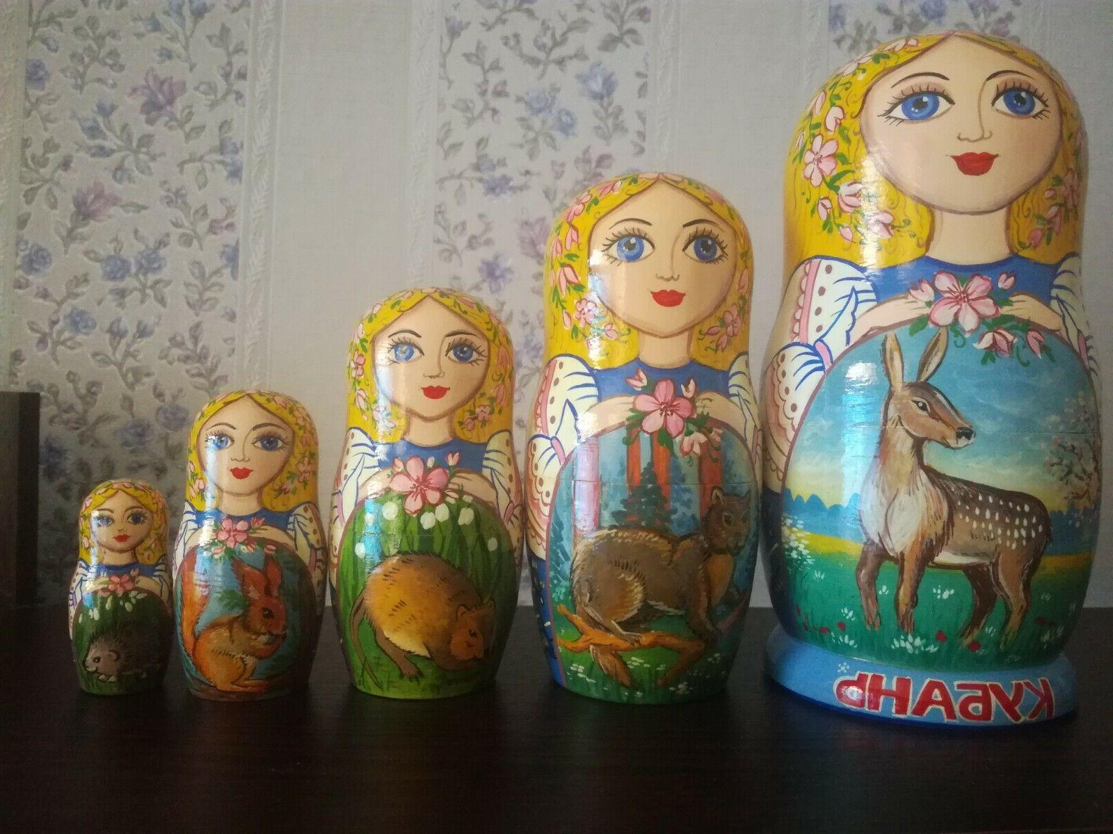 russian nesting doll 19 cm 5 pieces