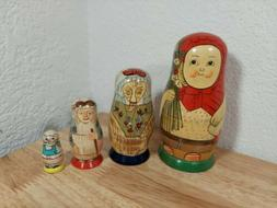 Little Red Riding Hood nesting doll - Authentic Models - Cat