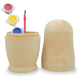 """6.75"""" Paint your Own Single Blank Wooden Russian Nesting Dol"""