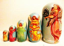 """Alkota Russian Genuine Wooden Collectible Nesting Doll """"My G"""