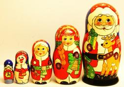 """Alkota Russian Genuine Wooden Collectible Nesting Doll """"Sant"""
