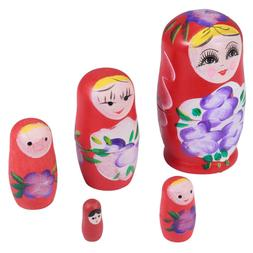 Wooden of Doll Creative Nesting Dolls Russian Dolls for Kids